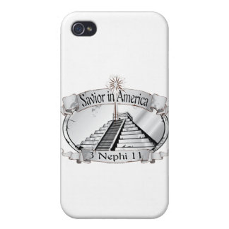 Savior in America - Book of Mormon - 3 Nephi 11 Covers For iPhone 4