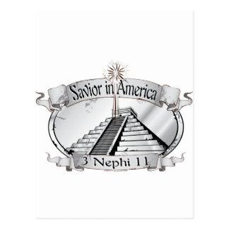 Savior in America - Book of Mormon - 3 Nephi 11 Postcard
