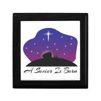 Savior Is Born Jewelry Box