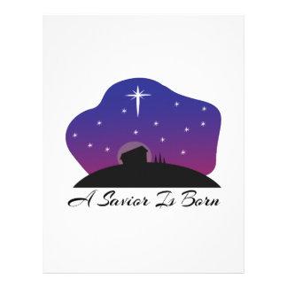 Savior Is Born Letterhead