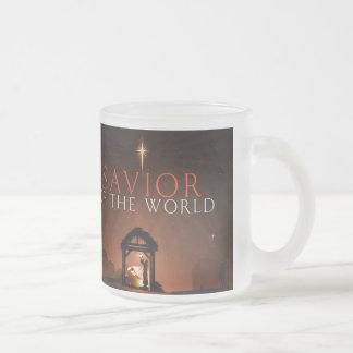 Savior of the world frosted glass coffee mug