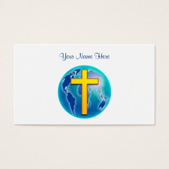 Saviour of the World, Your Name Here Business Card
