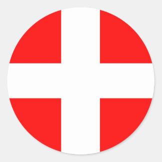 Savoie Flag france ethnic Classic Round Sticker