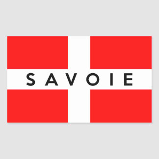 savoie province flag france french text name rectangular sticker