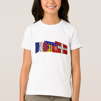 Savoie, Rhône-Alpes & France flags T-Shirt