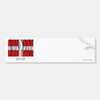 Savoie waving flag with name bumper sticker