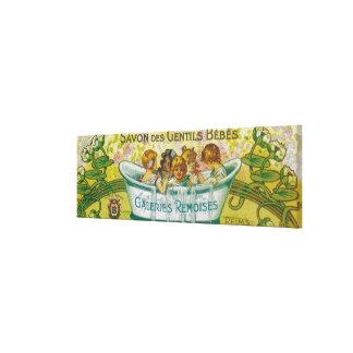 Savon Des Gentils Bebes Soap Label Canvas Print