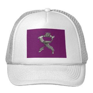 Savonarola chair purple trucker hat