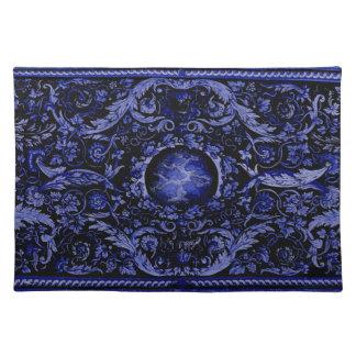 Savonnerie Carpet (Blue) Place Mat