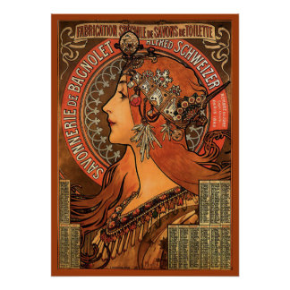Savonnerie De Bagnolet by Mucha Poster