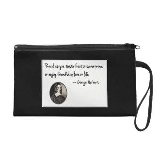 Savor reading wristlet purse