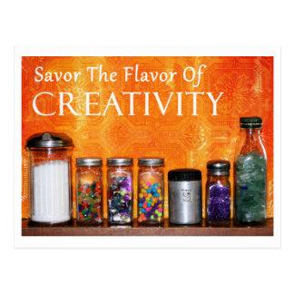 """Savor The Flavor Of Creativity"" Photography Postcard"