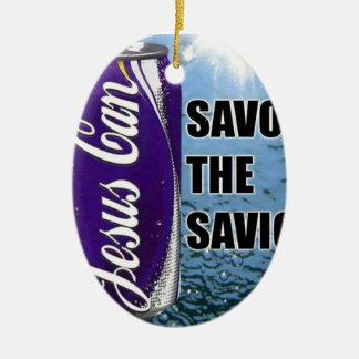 Savor the Savior Ceramic Ornament