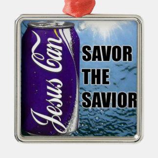 Savor the Savior Metal Ornament