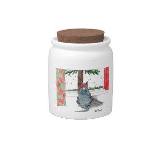 Savor the Season Cat Jar Candy Jar