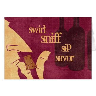 Savoring Wine Card