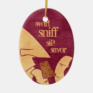 Savoring Wine Ornament