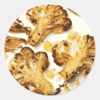 Savory Broccoli and Cauliflower Saute Classic Round Sticker