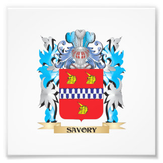 Savory Coat of Arms - Family Crest Photo Print