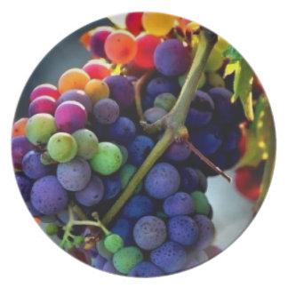 Savory Grapes Plates