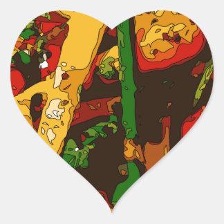 Savory Green Pea and Tomato Veggie Saute Dish Heart Sticker