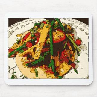 Savory Green Pea and Tomato Veggie Saute Dish Mousepad
