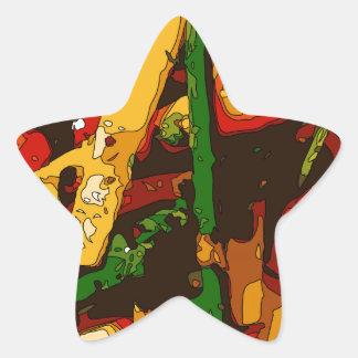 Savory Green Pea and Tomato Veggie Saute Dish Star Sticker