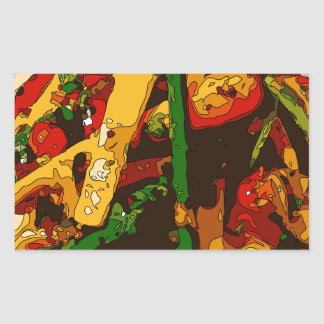 Savory Green Pea and Tomato Veggie Saute Dish Rectangular Sticker