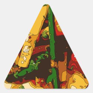 Savory Green Pea and Tomato Veggie Saute Dish Triangle Sticker