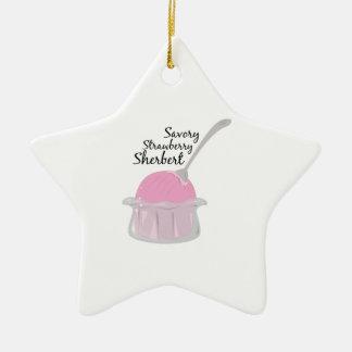 Savory Sherbert Double-Sided Star Ceramic Christmas Ornament