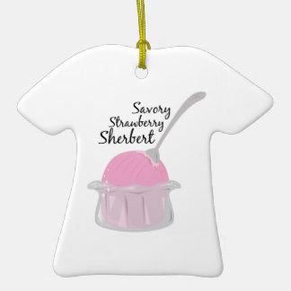 Savory Sherbert Double-Sided T-Shirt Ceramic Christmas Ornament