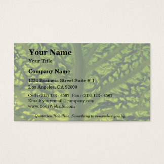 Savoy cabbage leaf business card
