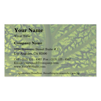 Savoy cabbage leaf business card template