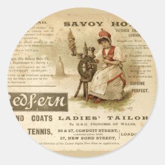 Savoy Hotel Classic Round Sticker
