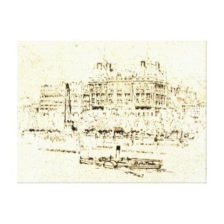 Savoy Hotel London 1895 Canvas Print