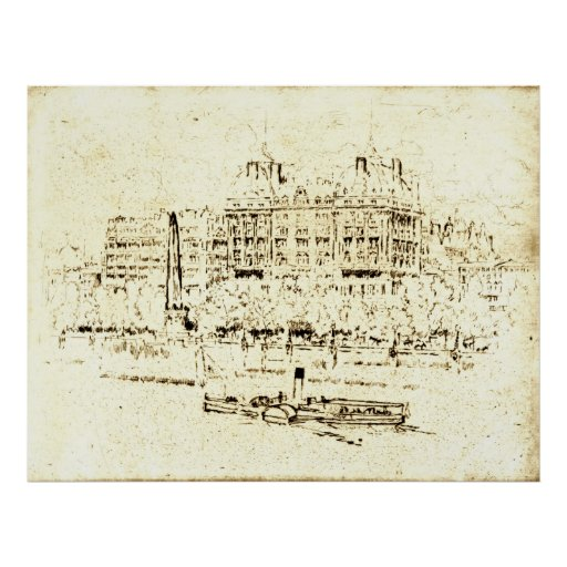Savoy Hotel London 1895 Poster