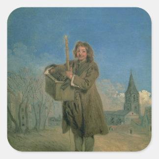 Savoyard with a Marmot, 1715-16 Square Sticker
