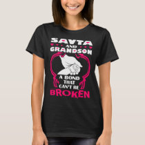 Savta And Grandson Bond That Cant Be Broken T-Shirt