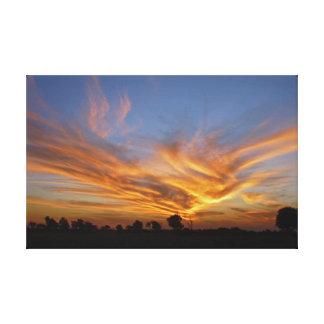 Savute Sunset Canvas Print