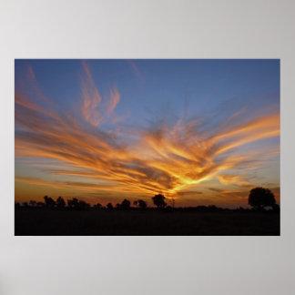 Savute  Sunset Poster