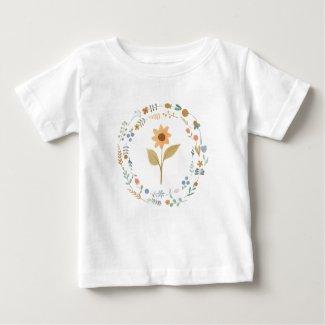 Savvy Babes Tiny Flowers Garden Tee