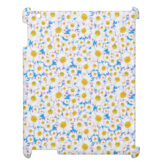 Savvy Case for iPad: Ditzy White Daisies on Blue iPad Covers