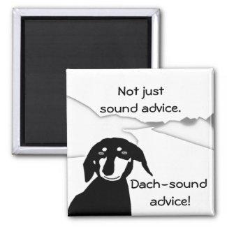 Savvy Sausage Wisdom - Dach-sound Fridge Magnet