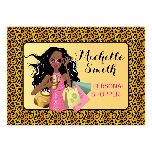 Savvy Shopper African American Business Card
