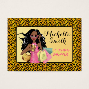 African american woman business cards templates zazzle savvy shopper african american business card colourmoves Images