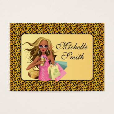 Professional Business Savvy Shopper Chubby Business Card