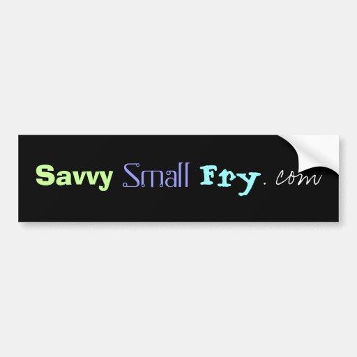 SavvySmallFry.com Car Bumper Sticker