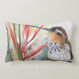 Saw-billed Hermit Hummingbird Lumbar Pillow