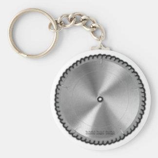 Saw Blade Basic Round Button Keychain