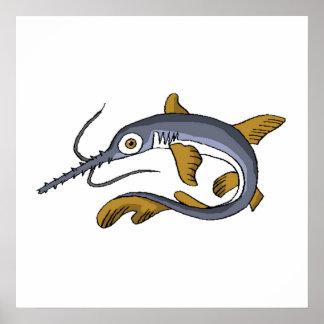 Saw Fish Poster